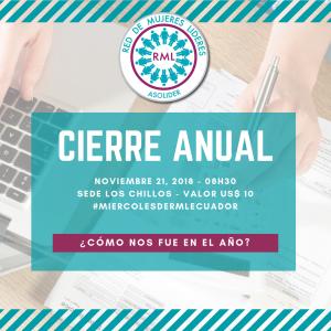 2018-11-21 CIERRE ANUAL